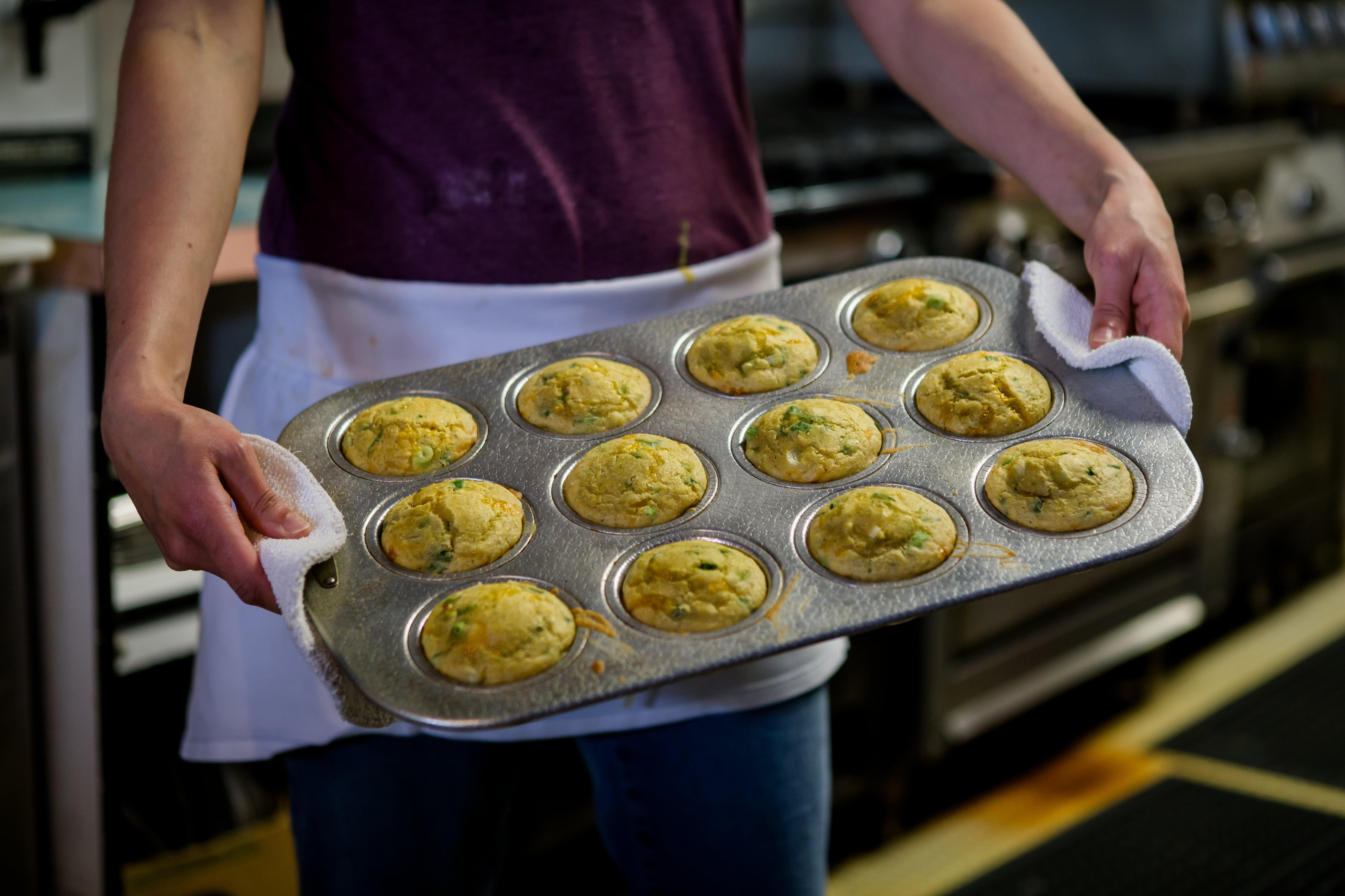 Pepper Sisters in Bellingham Cornbread Muffins-min