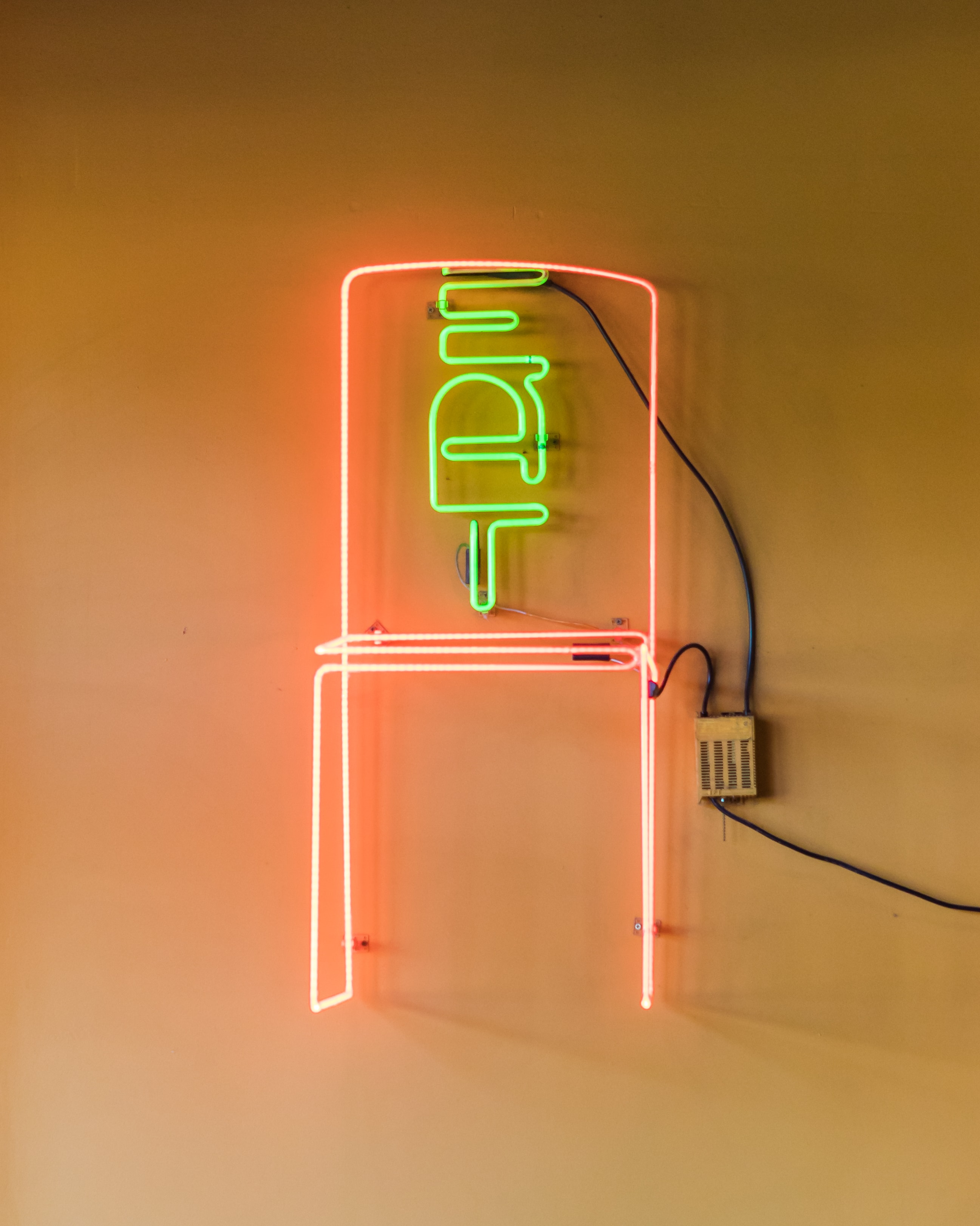 EAT neon sign in Pepper Sisters-min | Pepper Sisters